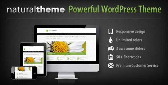 Natural - Powerful Responsive WordPress Theme