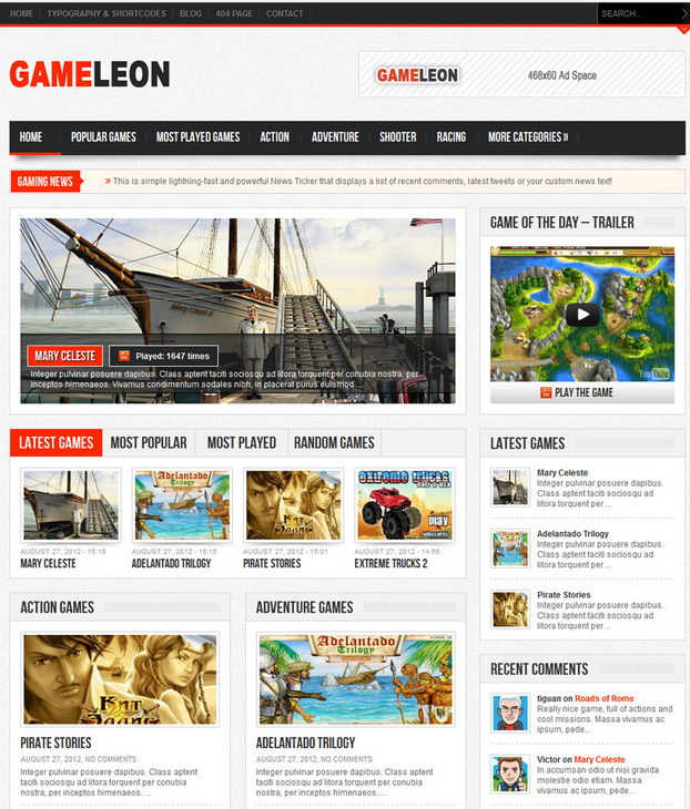 Gameleon Gaming Theme