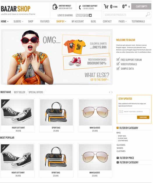 Bazar Shop ecommerce theme