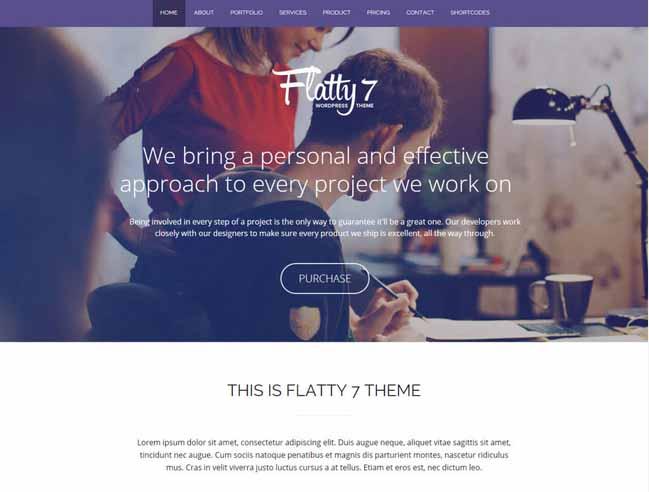 Flatty 7 theme