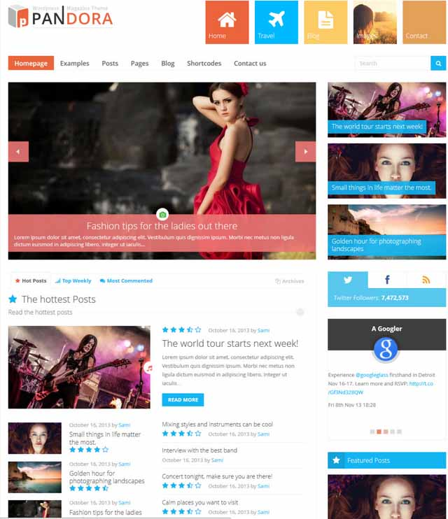 Pandora Box wordpress theme