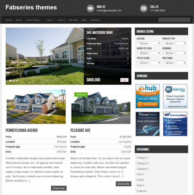Avenue wordpress real estate theme
