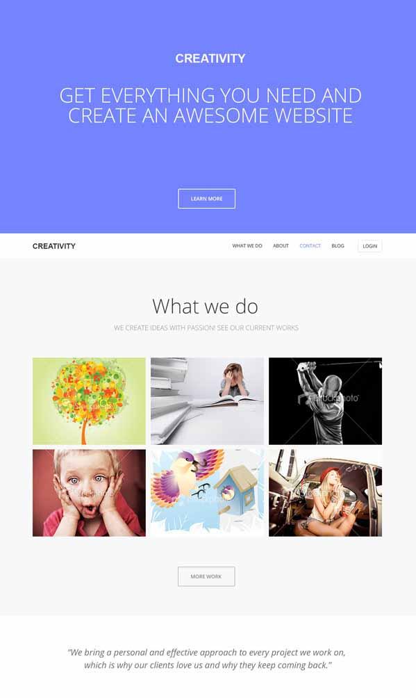 creativity wordpress template