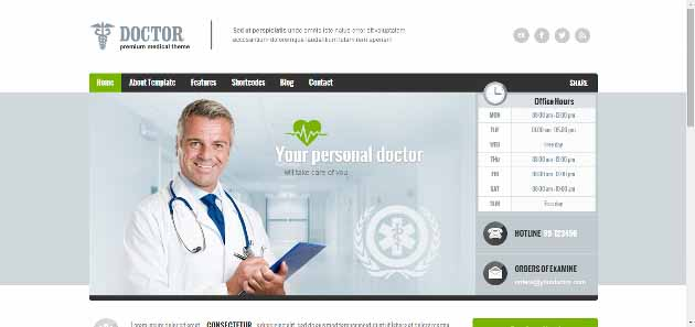 Doctor   Premium WordPress Theme (630x297)