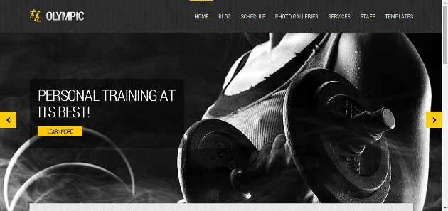 Olympic   Fitness   Health Theme for WordPress (630x297)
