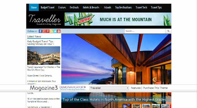 Travel WordPress Theme (630x345)