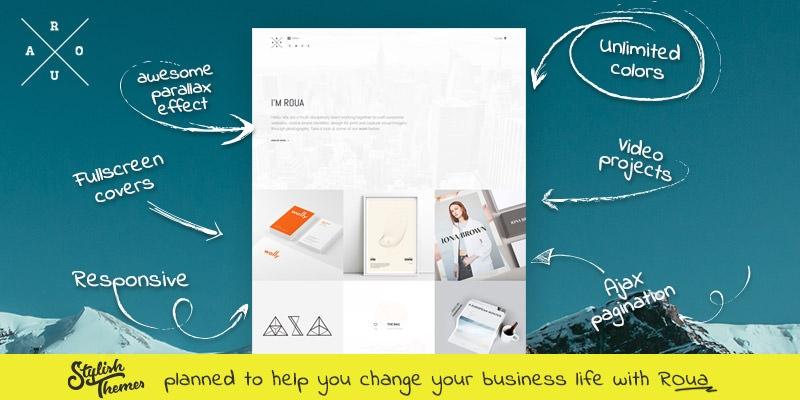 ROUA - Minimalistic Portfolio WordPress Theme
