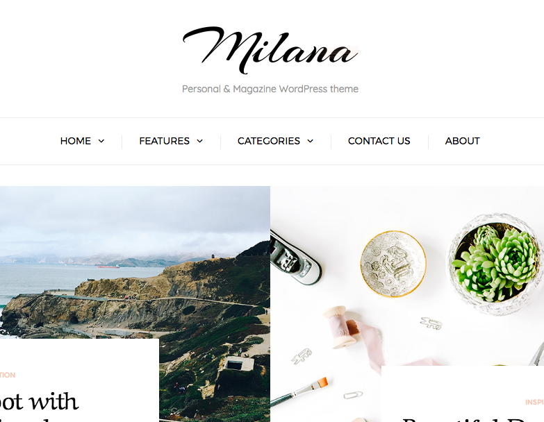 milana wordpress theme